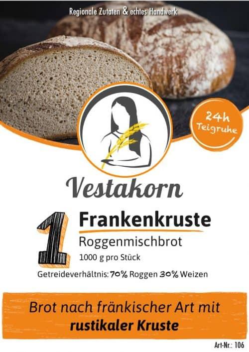 Etikett Frankenkruste Vorderseite