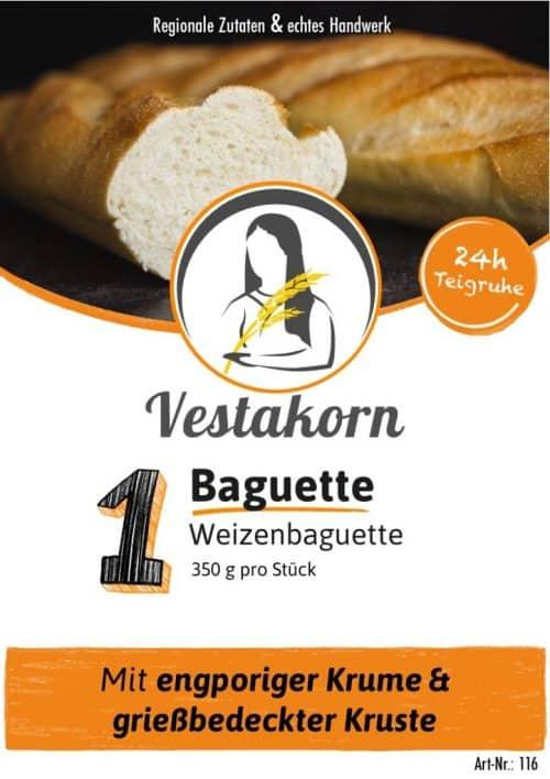 Etikett Vorderseite Baguette