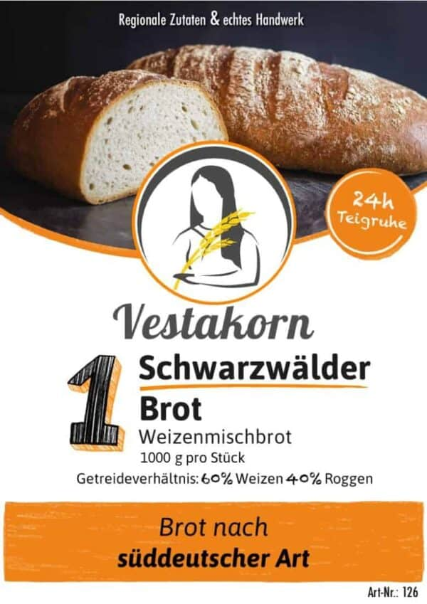 Etikett Vorderseite Schwarzwälder Brot