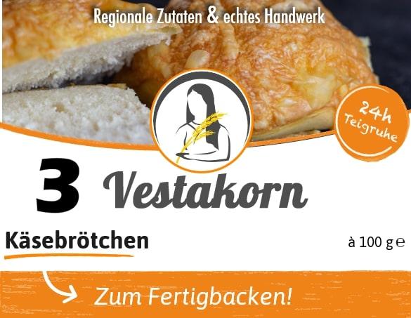 Käsebrötchen Etikett Vorderseite