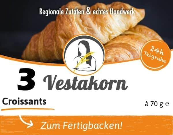 Croissants Etikett Vorderseite