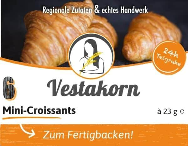 Mini-Croissants Etikett Vorderseite