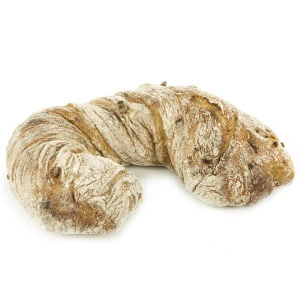 Pain Doblo, Weizenbrot mit Schafskäse, Paprika und Peperoni