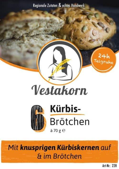 Etikett Vorderseite Kürbiskernbrötchen