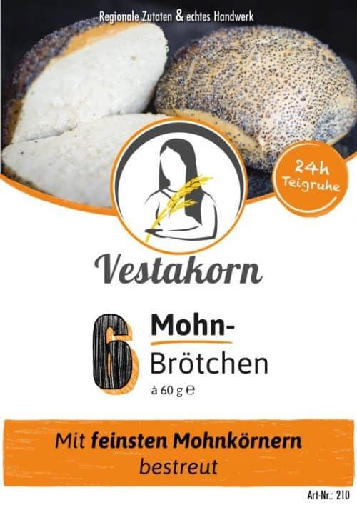 Etikett Vorderseite Mohnbrötchen