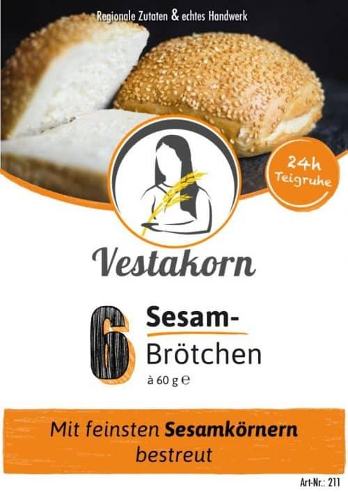 Etikett Vorderseite Sesambrötchen