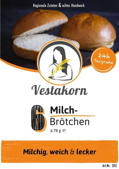 Etikette Vorderseite Milchbrötchen