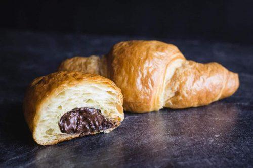 Schoko-Croissant Nahaufnahme