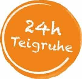 Icon 24h Teigruhe, als Darstellung der 24 stündigen Teigruhe aller Vestakorn Produkte