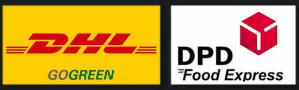 Wir versenden per DPD Food Express und per DHL GoGreen
