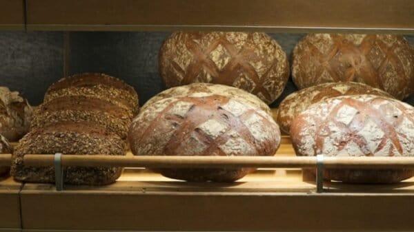 Brot in der Auslage